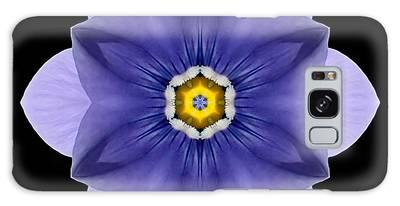 Blue Pansy I Flower Mandala Galaxy Case