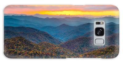 Mountain Sunset Galaxy Cases