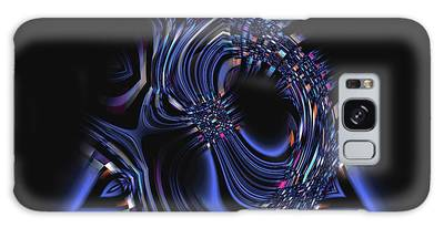Blue Triangle Jewel Abstract Galaxy Case
