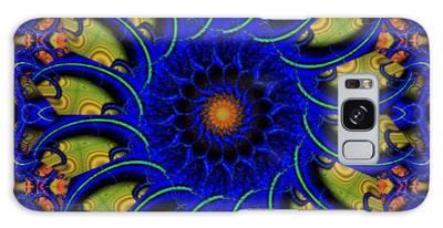 Blue Whirligig Galaxy Case