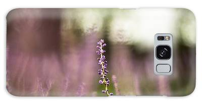Bokeh With Purple Wildflower Galaxy Case