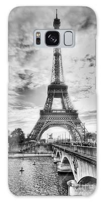 Bridge To The Eiffel Tower Galaxy Case