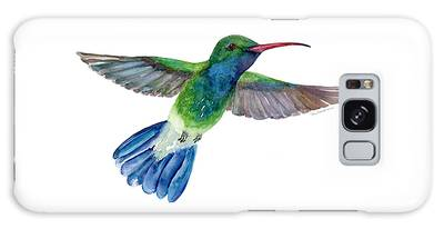 Broadbilled Fan Tail Hummingbird Galaxy Case