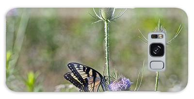 Butterfly On Thistle Galaxy Case