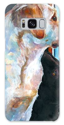 Chocolate Labrador Galaxy Cases