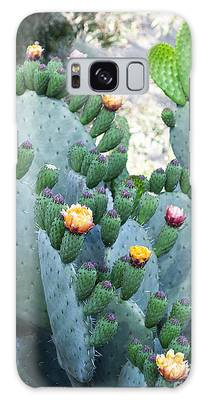 Cactus Buds And Flowers Galaxy Case