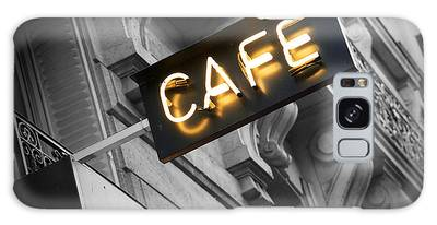 Cafe Photographs Galaxy Cases