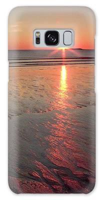 Camp Ellis Beach Sunrise 2013-10-19 Galaxy Case