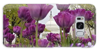 Capitol With Tulips Galaxy Case