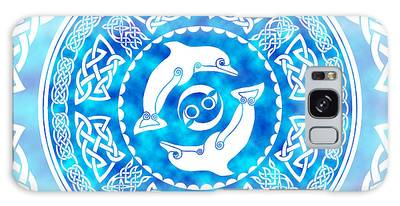 Celtic Dolphins Galaxy Case