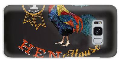 Chicken Digital Art Galaxy Cases