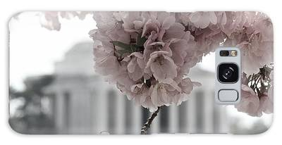 Cherry Blossoms At Jefferson Memorial Galaxy Case