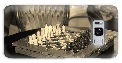 Galaxy Case featuring the photograph Chess Game by Cynthia Guinn