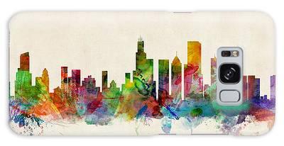 Chicago City Skyline Galaxy Case