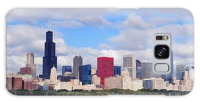 Chicago Skyline Over Lake Michigan Galaxy Case
