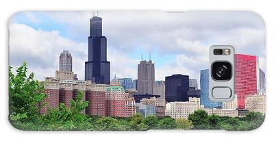 Chicago Skyline Over Park Galaxy Case