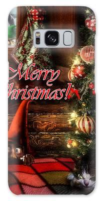 Christmas Greeting Card Viii Galaxy Case