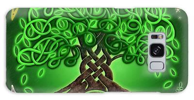 Circle Celtic Tree Of Life Galaxy Case