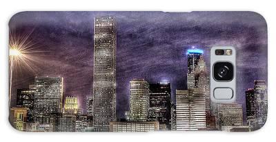 City Of Houston Skyline Galaxy Case