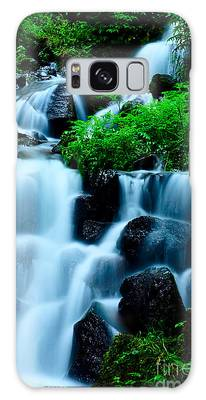 Closeup Of Beautiful Waterfall In Karuizawa Japan Galaxy Case