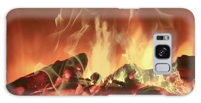 Galaxy Case featuring the photograph C'mon Baby Light My Fire by Ericamaxine Price