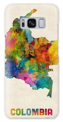 Colombia Watercolor Map Galaxy Case