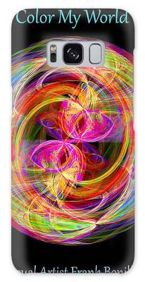 Galaxy Case featuring the digital art Color My World by Visual Artist Frank Bonilla