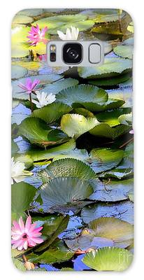Colorful Water Lily Pond Galaxy Case