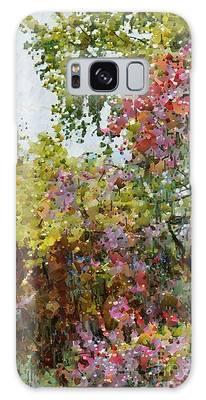 Colourful Spring Garden Galaxy Case