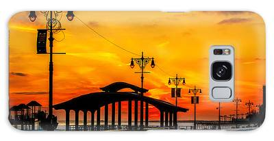 Coney Island Winter Sunset Galaxy Case