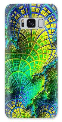 Galaxy Case featuring the digital art Coral Electric by Susan Maxwell Schmidt