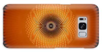Galaxy Case featuring the digital art Crystal Orange by Visual Artist Frank Bonilla