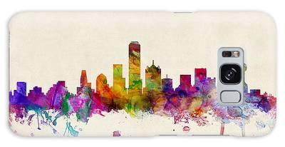 Dallas Texas Skyline Galaxy Case