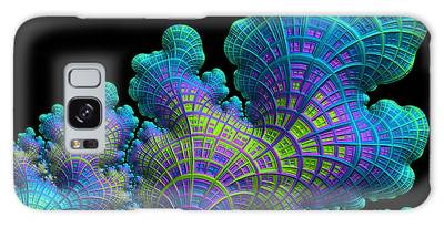 Galaxy Case featuring the digital art Deep Sea Coral by Susan Maxwell Schmidt
