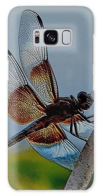 Galaxy Case featuring the digital art Dragonfly Sky Print by Visual Artist Frank Bonilla