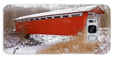 Everett Rd. Covered Bridge In Winter Galaxy Case