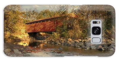 Everett Rd Summit County Ohio Covered Bridge Fall Galaxy Case