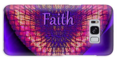 Galaxy Case featuring the digital art Faith by Visual Artist Frank Bonilla