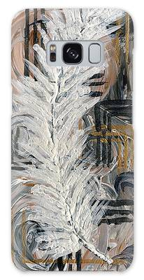 Feather Of Light Galaxy Case