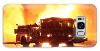 Fiery Fire Truck Galaxy Case