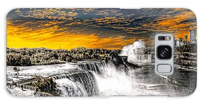 Fiery Niagara Falls Galaxy Case