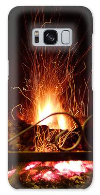 Flaming Wizard Galaxy Case