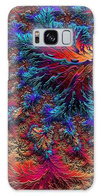 Galaxy Case featuring the digital art Fractal Jewels Series - Beauty On Fire II by Susan Maxwell Schmidt