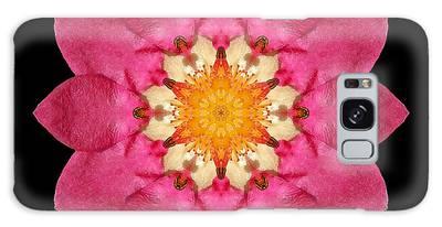 Fragaria Flower Mandala Galaxy Case