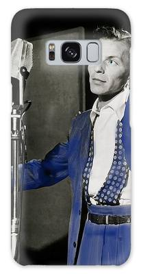 Galaxy Case featuring the photograph Frank Sinatra - Old Blue Eyes by Ericamaxine Price