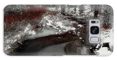 Galaxy Case featuring the digital art Frozen Stream II by Visual Artist Frank Bonilla