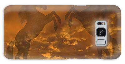 Ghost Horses At Sunset Galaxy Case