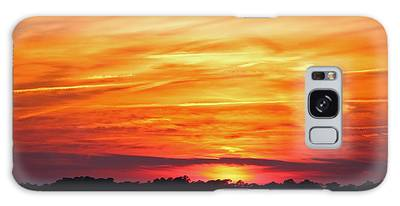 Galaxy Case featuring the photograph God Paints The Sky by Cynthia Guinn