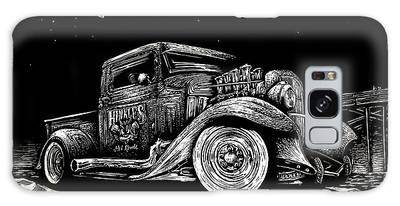 Old Truck Drawings Galaxy Cases