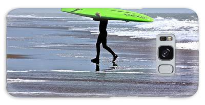 Green Surfboard Galaxy Case